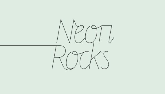 Logo design - left tail version - for Neon Rocks Brighton PR agency