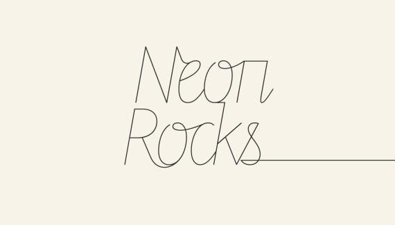 Logo design - right tail version - for Neon Rocks Brighton PR agency