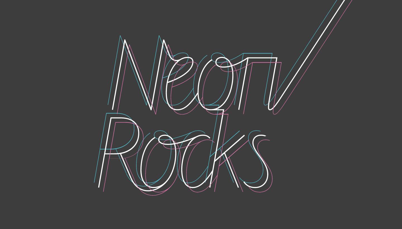 Logo design triple line version for Neon Rocks Brighton PR agency