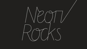 Logo design reversed version for Neon Rocks Brighton PR agency
