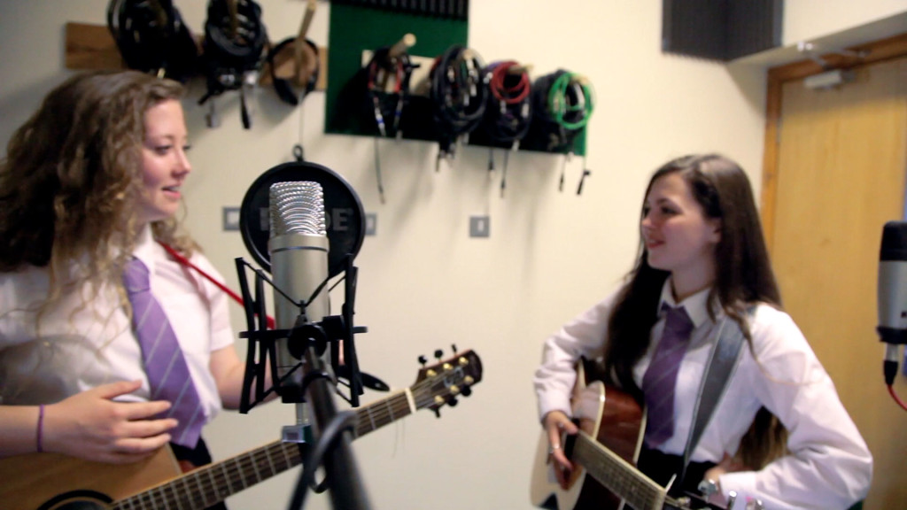 Varndean prospectus film 2015 - scene featuring music students Ella and Eliza