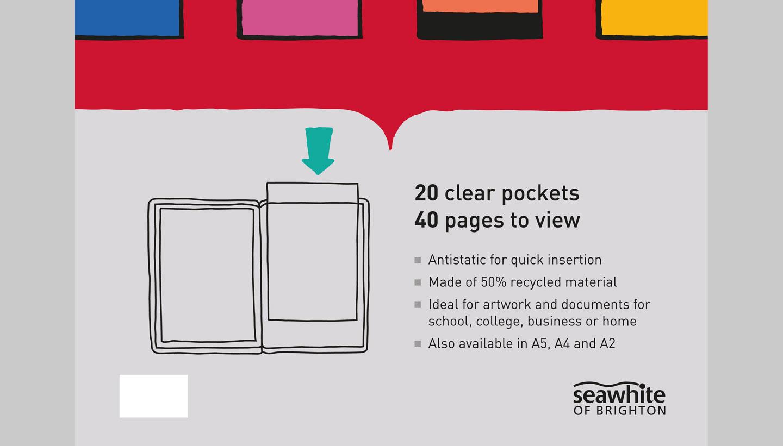 Seawhite viewbook packaging design showing diagram by toop studio