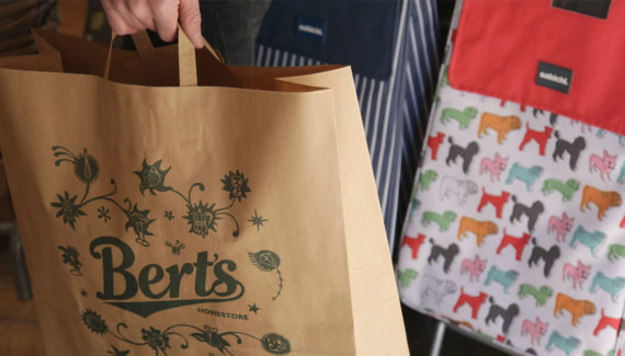 Bert's Homestore Packaging Brown Paper Bag - detail