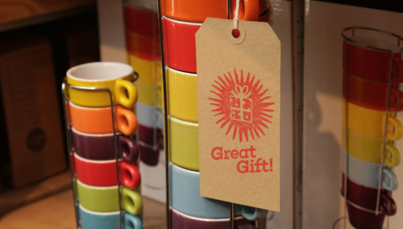 Bert's Homestore instore design - Great Gift Swing Tag