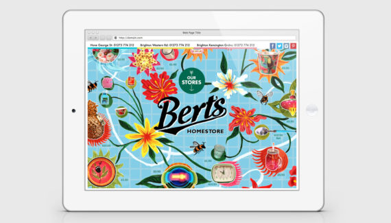 Bert's Homestore website homepage