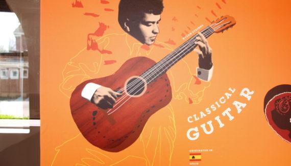 Music wall graphic Spanish Guitar