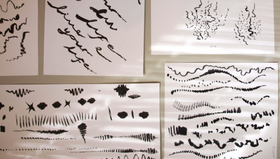 Music wall graphic drawings