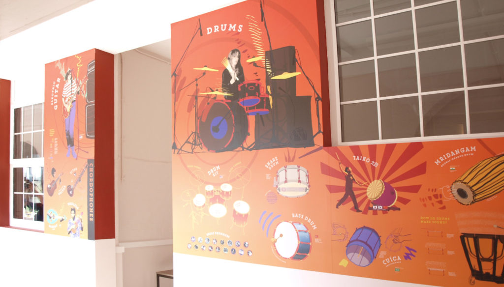 School Wall Graphics - Music Walls - Toop Studio - Graphic Design .... Toop Studio - home design studio