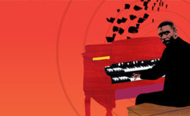 Wall Graphics Denbigh Music thumbnail featuring Jimmy Smith on Hammond Organ