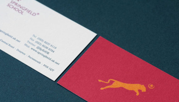 School logo design on a business card - illustrating 'L is for Logo' in A to Z design for schools blog