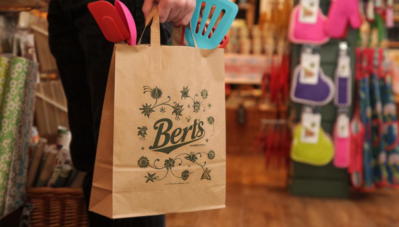 Branding design for Berts Homestore Brighton - work by Toop Studio