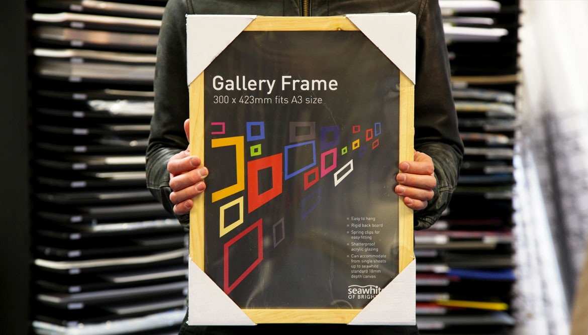 Gallery Frame product packaging design for Seawhite of Brighton - work by Toop Studio