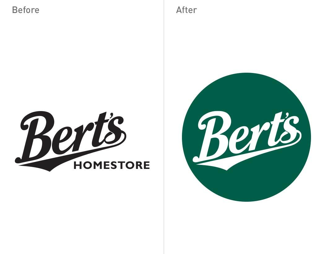 Berts - logo design - Toop