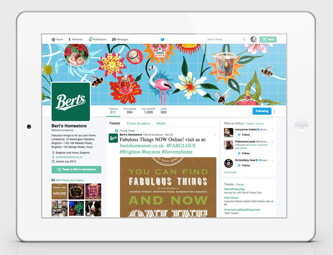 Brand Refresh - Berts Homestore- Facebook social media - Toop Studio