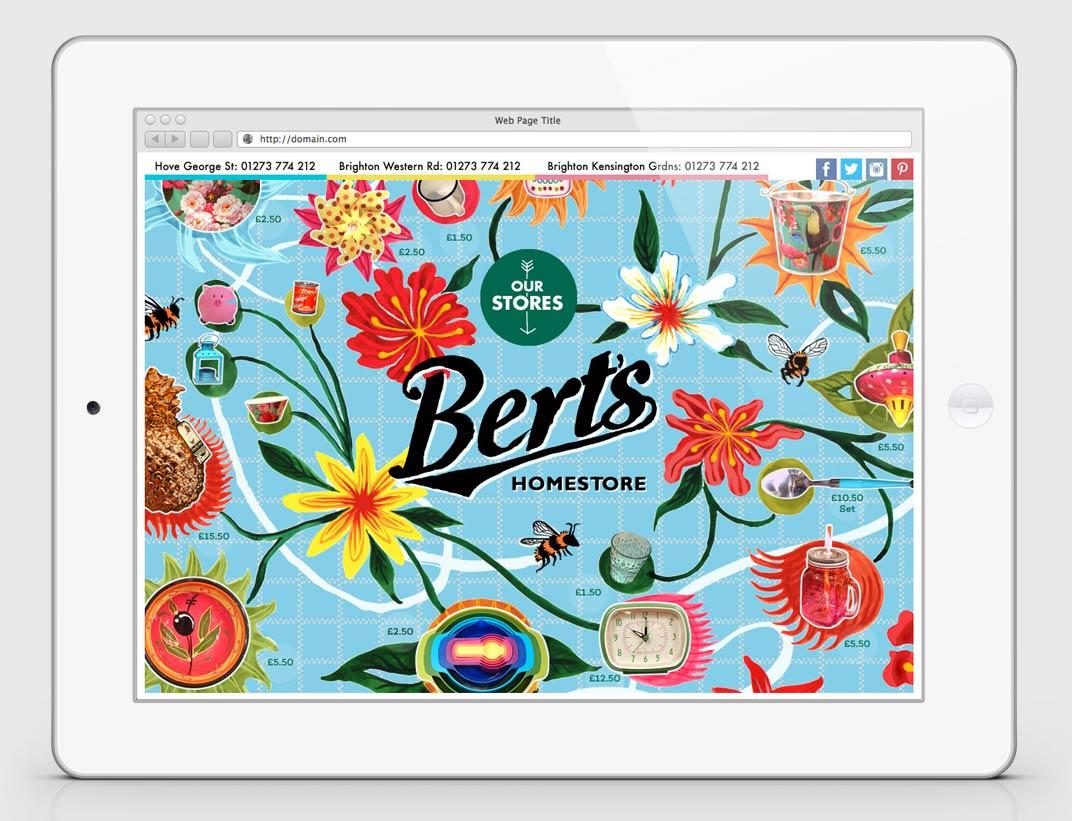 Berts - holding website design - Toop Studio