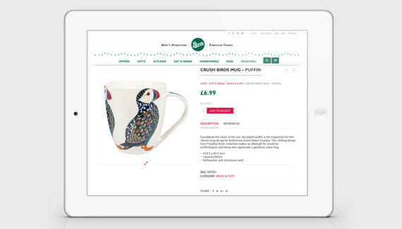 Berts ecommerce website design - product page - Berts website - Toop Studio and Mootpoint