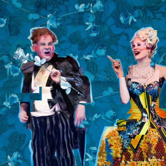 Detail of Der Rosenkavalier - Strauss - Glyndebourne Opera Cup - Painted Collage - Shadric Toop