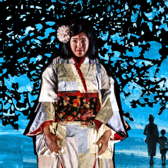 Detail of Madama Butterfly - Puccini - Glyndebourne Opera Cup - Painted Collage by Shadric Toop
