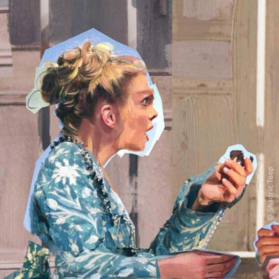 Detail of Cosi Fan Tutte - Mozart - Glyndebourne Opera Cup - Painted Collage by Shadric Toop