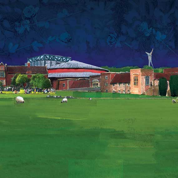Glyndebourne Landscape - Painted collage by Shadric Toop 2018