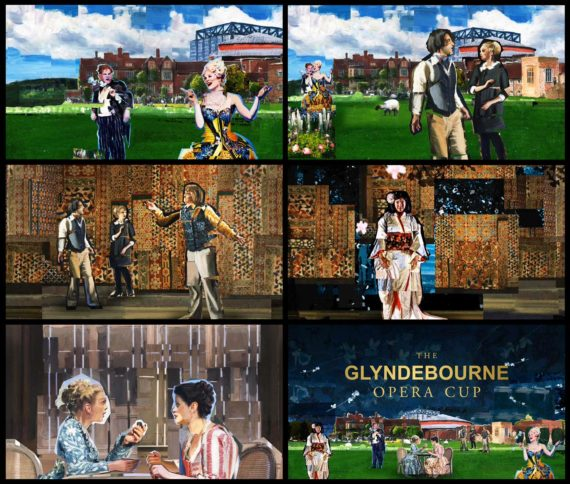Title Sequence x 6 Frames by Liquid TV for for Glyndebourne Opera Cup images by Shadric Toop