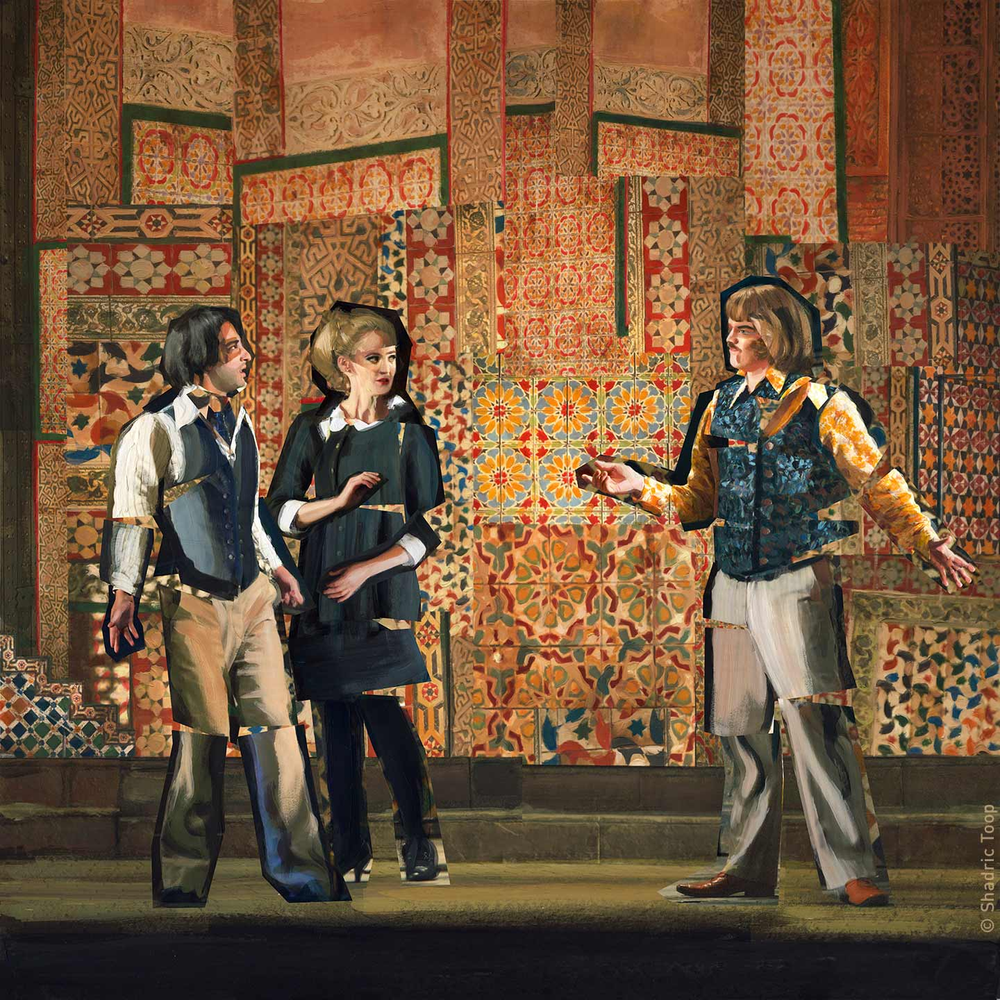 The Marriage of Figaro - Mozart - Glyndebourne Opera Cup - Painted Collage by Shadric Toop