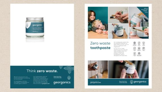 Georganics ads graphic design by Toop Studio