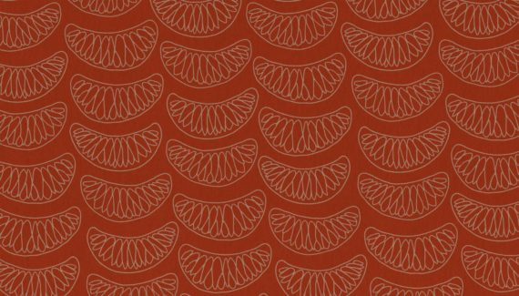 Georganics red mandarin pattern illustration designed by Toop Studio