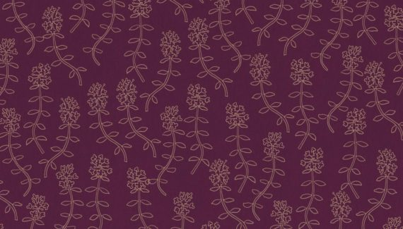 Georganics wild thyme pattern illustration designed by Toop Studio
