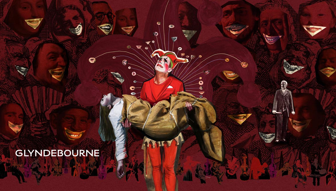 Shadric-Toop-glyndebourne-illustration-Rigoletto-painted-collage-Festival-2020