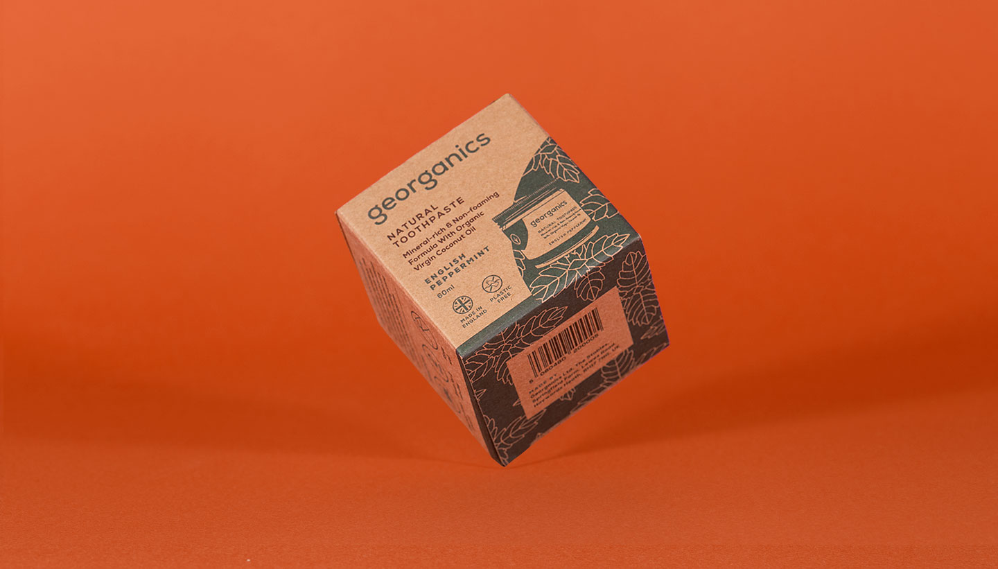 georganics waste free packaging box graphic design shadric toop