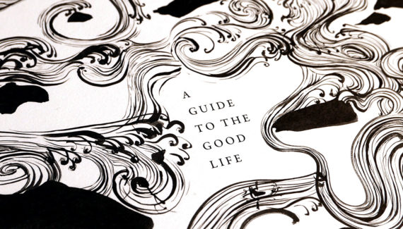Book Jacket Design - A-Guide-to-the-Good-Life-Toop-detail