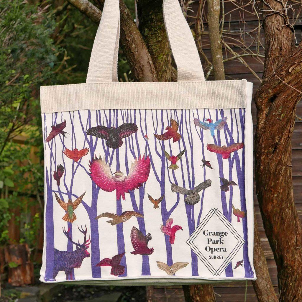 Grange Park 2021 - Bag illustration - birds and trees - Shadric Toop