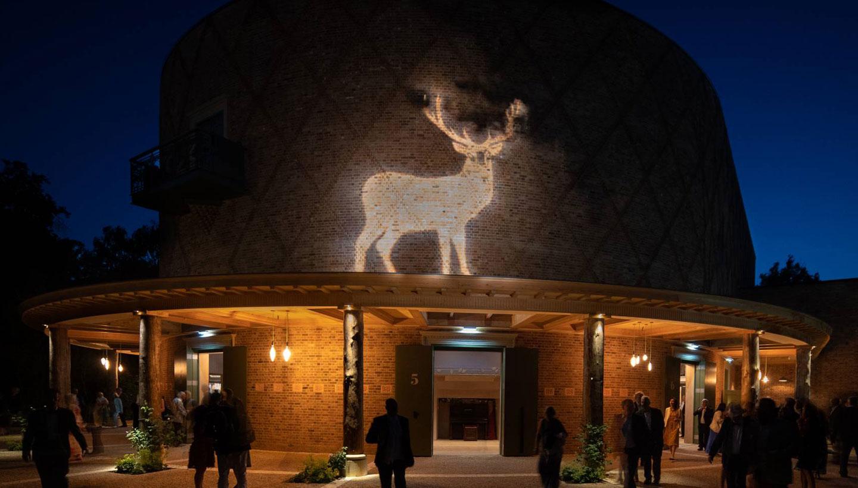 Grange Park Opera - Deer Illustration projection 2019