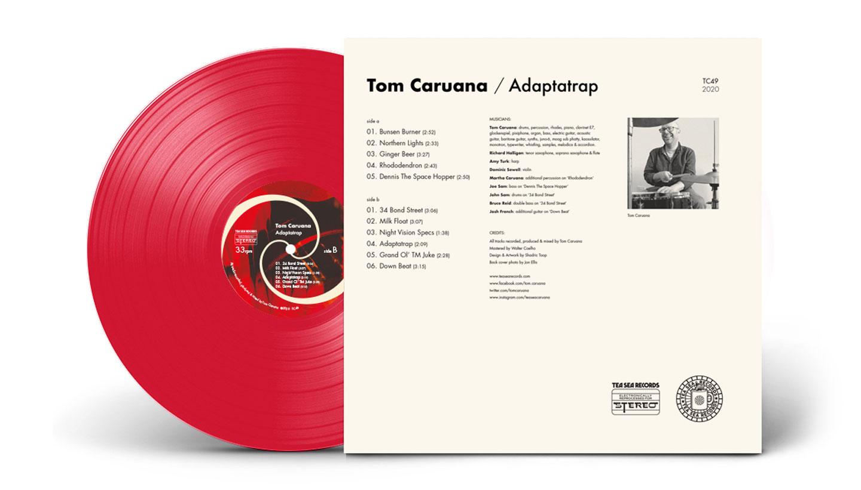 Record cover artwork back cover- Tom Caruana - Adaptatrap - Design by Toop Studio