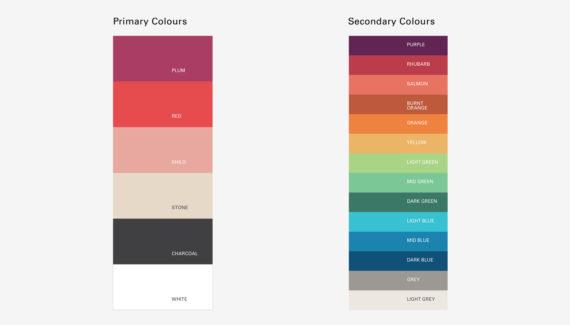 Branding Design - Trading Boundaries - Colour Palette - Toop Studio