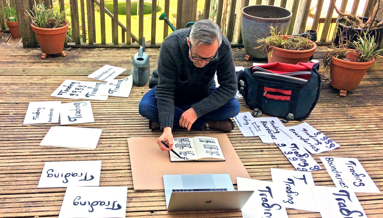 Branding Design - Trading Boundaries - Outdoor garden studio during lockdown - Shadric Toop