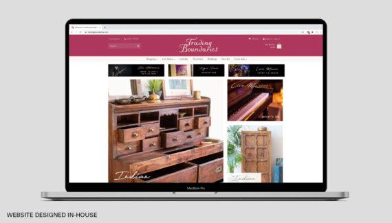 Branding Design - Trading Boundaries - Website designed in-house - Toop Studio