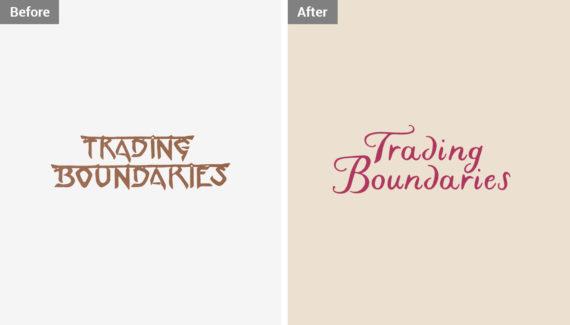 Branding Design - Trading Boundaries - Logo before and after - Toop Studio