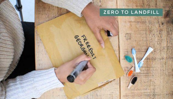 Video with Animation - Georganics - screenshot 11 Zero to Landfill customer writing on envelope- Toop Studio