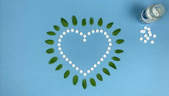 Video with Animation - Georganics - screenshot 12, frame from stop motion animation, toothpaste tablets in the shape of a heart surrounded by mint leaves - Toop Studio