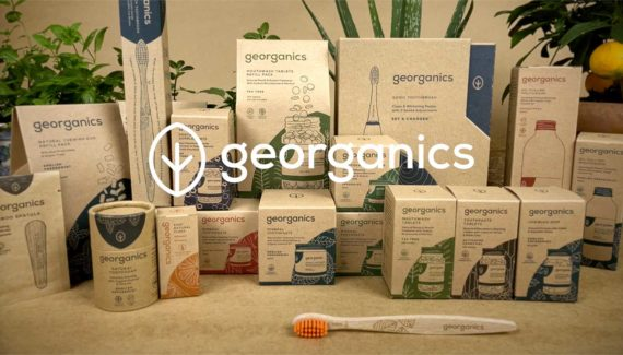 Video with Animation - Georganics - screenshot 16, frame from stop motion animation, Georganics products in kraft boxes - Toop Studio